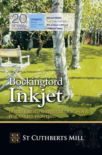 Bockingford Bockingford Watercolour Ink Jet Double-sided, A4, Pack 20