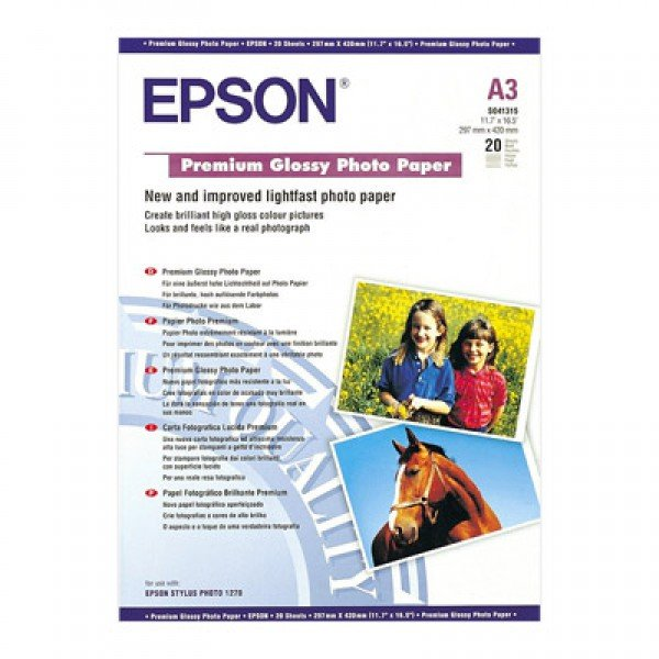 Epson Epson SO41315, Premium Glossy Photo Paper, A3, Pack of 20