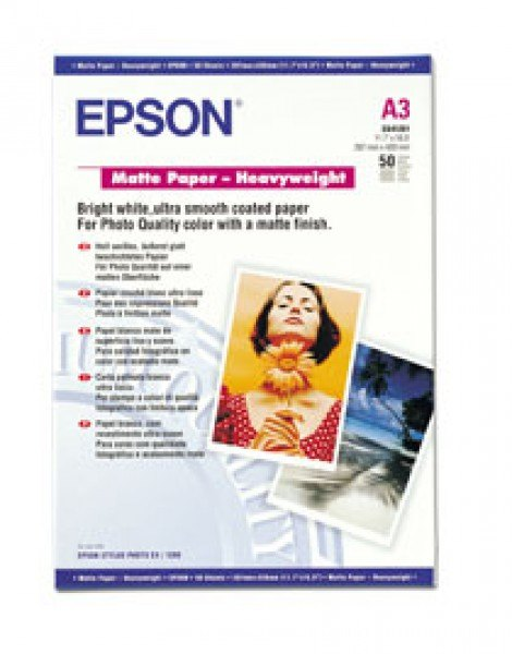 Epson Epson SO41261, Matte Paper Heavyweight, A3, Pack of 50