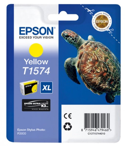 Epson Epson Ink Jet Cartridge T1574, Turtle, Yellow