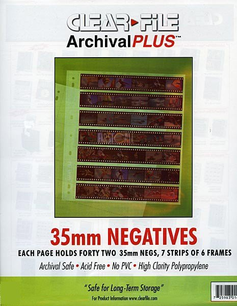 Clearfile Clearfile 14B Negative Pages 35mm Archival Plus Pack of 100