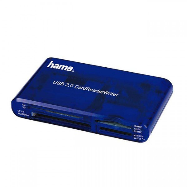 Hama 35in1 USB 2.0 Multicard Reader, blue