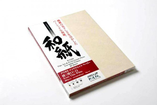 Awagami Awagami Kozo Thin White, A4, Pack of 20