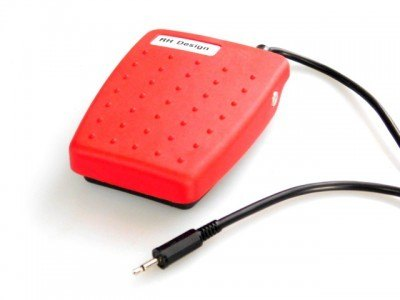RH Designs RH Designs Foot switch Deluxe Red, with 2m (6.5 feet) cable