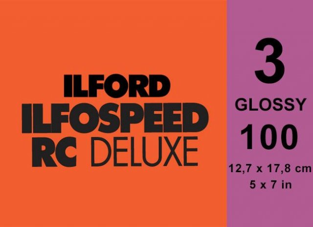 Ilford Ilford Ilfospeed Grade 3 Glossy, 5 x 7in, Pack of 100