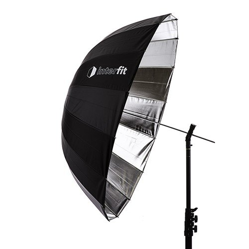 Interfit Interfit UP3SI Parabolic Silver Umbrella, 41 inch