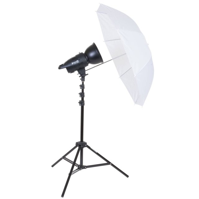Interfit Interfit INT 901 F121 100w Head Kit c/w Reflector, Umbrella & Stand