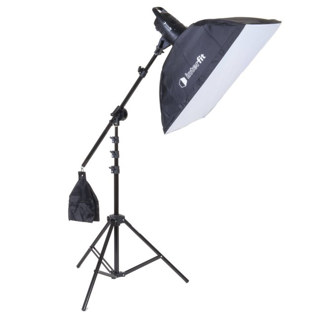 Interfit Interfit INT 903 F121 100w Head Kit c/w Softbox, Boom Arm & Stand