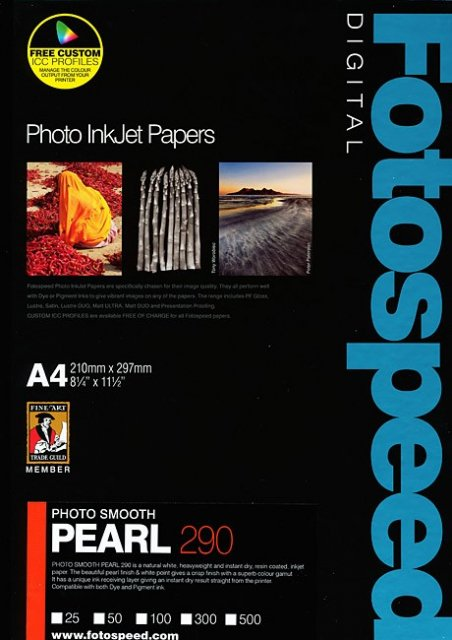 Fotospeed Fotospeed Photo Smooth Pearl 290gsm, A4, 100 Sheets