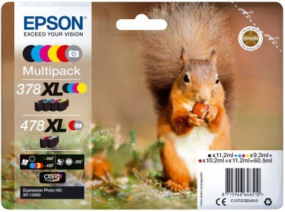 Epson Epson Ink Jet Cartridge T478XL Squirrel, Multipack