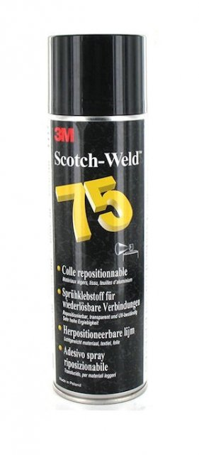 3M 75 Repositionable Adhesive Spray, 500ml,