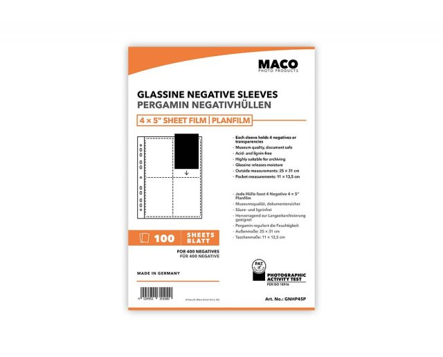 MACO MACO Negative Pages, Paper (glassine), 4 x 5 inch, 100 sheets