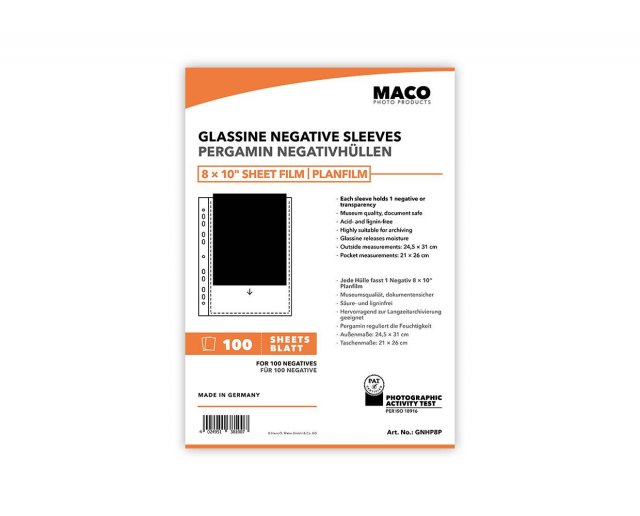 MACO MACO Negative Pages, Paper (glassine), 8 x 10 inch, 100 sheets
