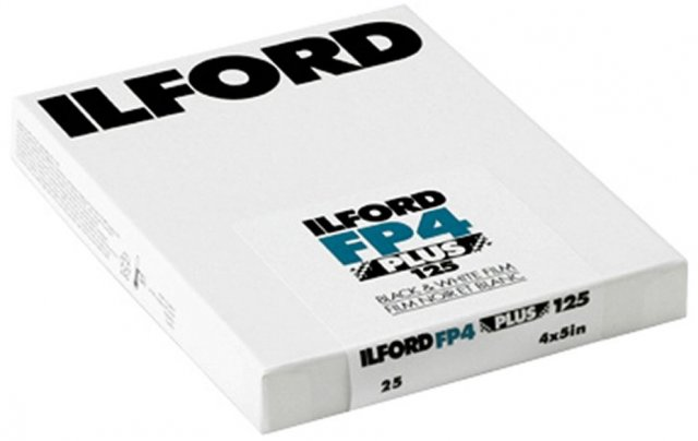 Ilford Ilford FP4 Plus 4 x 5in, ISO 125, Pack of 25